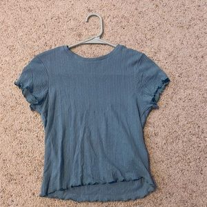 Urban outfitters Blue Heart Pointelle T-shirt